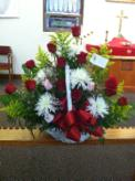 "Carlisle United Methodist Church; Carlisle, IA (June 14, 2013): This arrangement is in memory of Laoshi Laurince McElroy's mother, Mary Louise (Brockway) McElroy. The card read: ""With Deepest Sympathy — The Past & Present Students of Water Tiger School of T'ai Chi."""