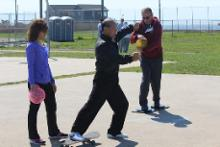 World T'ai Chi & Qigong Day — Patchogue (May 3, 2014): Every year a new bag of toys comes to Shorefront Park with Spencer Gee (C), Spencer Gee Wellness Corporation in Old Westbury, and this year was no different! Photo by Joe Cavaliere, taichi-daily.com.