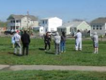 World T'ai Chi & Qigong Day — Patchogue (May 3, 2014): Able to make this year's event because of the rain delay, Teresa White (C - facing), Long Island Tai Chi and Internal Arts in Babylon, is in the midst of her workshop, Compression and Expansion in Tai Chi – Pump up Your Practice.